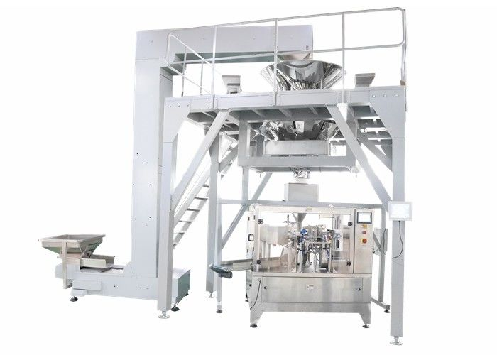 PLC Operated Food Packing Machine , Fully Automated Doypack Packing Machine For Stand Up Pouch Bag With Zipper